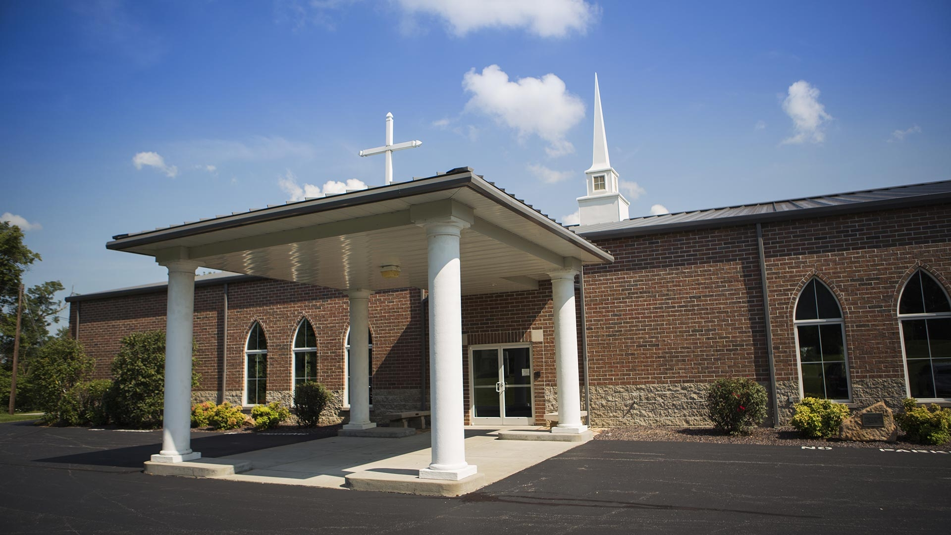 McCutchanville Community Church Entrance